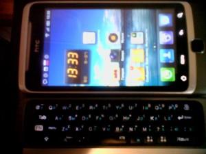 HTC Desire Z русская клавиатура