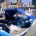 строительная выставка Уфа: лодка с тентом